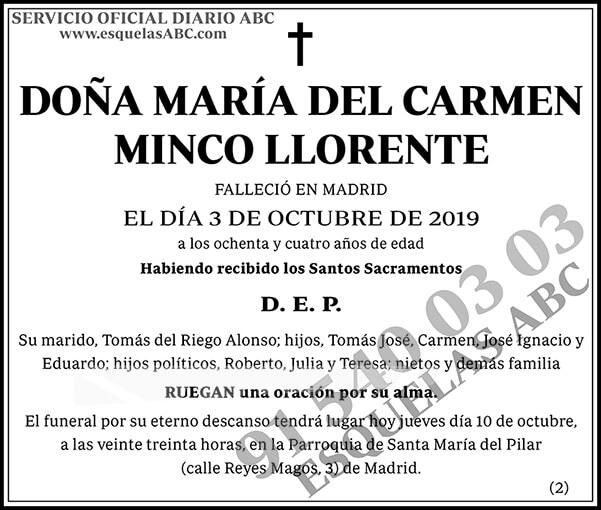María del Carmen Minco Llorente