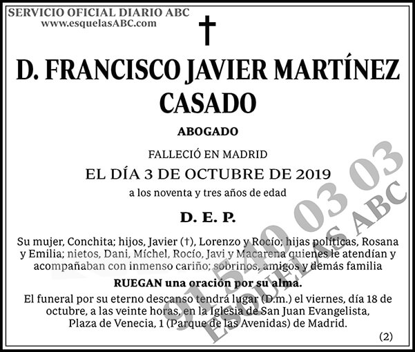 Francisco Javier Martínez Casado