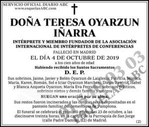 Teresa Oyarzun Iñarra