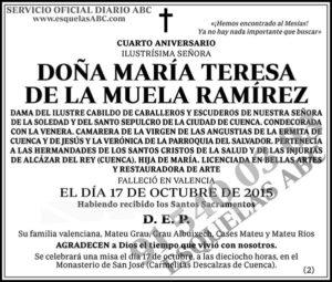 María Teresa de la Muela Ramírez