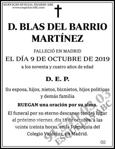 Blas del Barrio Martínez