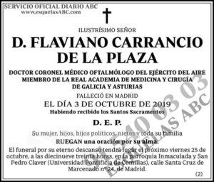 Flaviano Carrancio de la Plaza