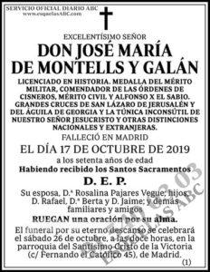 José María de Montells y Galán