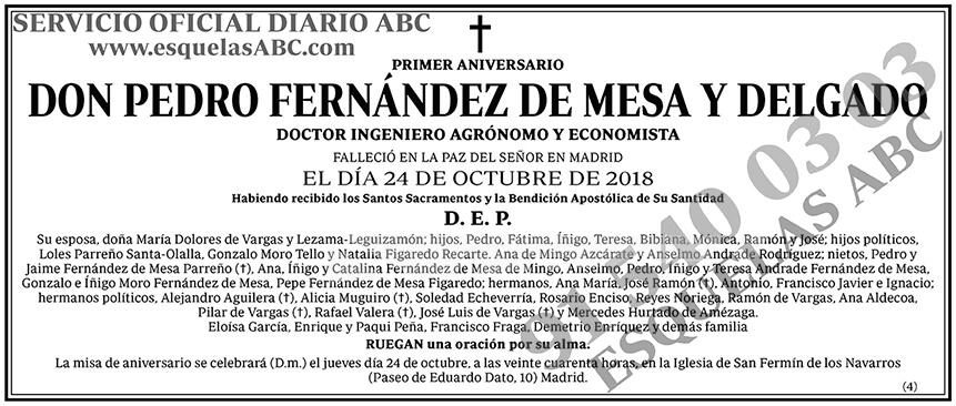 Pedro Fernández de Mesa y Delgado