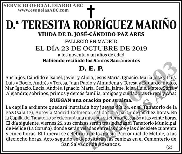 Teresita Rodríguez Mariño