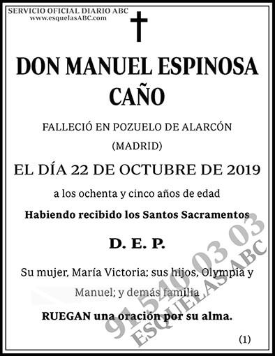 Manuel Espinosa Caño