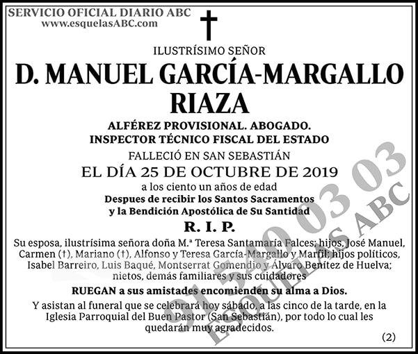 Manuel García-Margallo Riaza