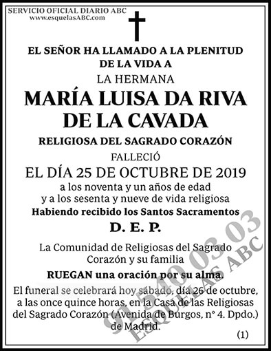 María Luisa Da Riva de la Cavada