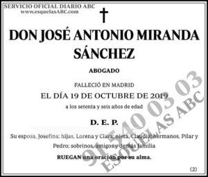 José Antonio Miranda Sánchez