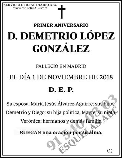 Demetrio López González