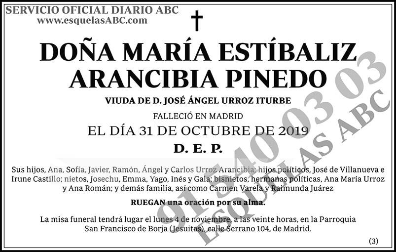 María Estíbaliz Arancibia Pinedo