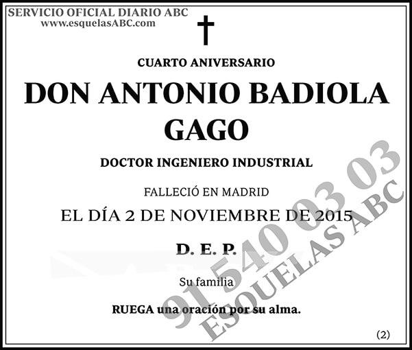 Antonio Badiola Gago