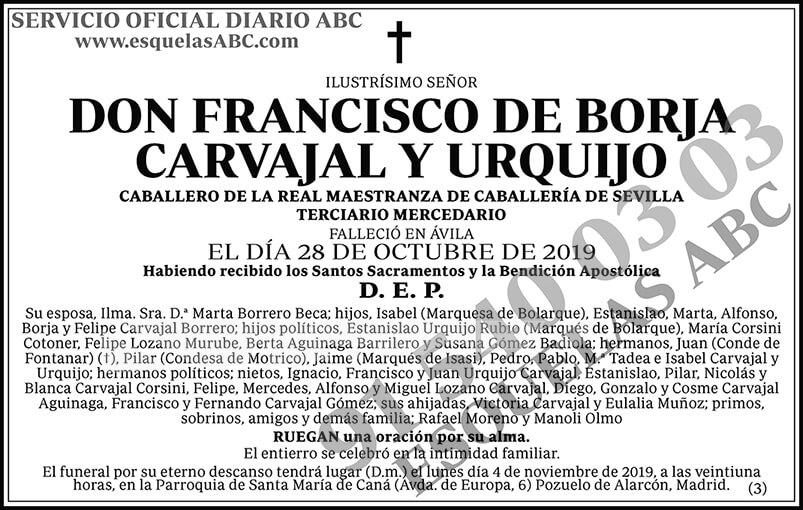 Francisco de Borja Carvajal y Urquijo