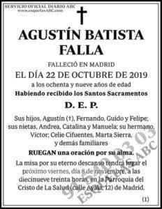 Agustín Batista Falla