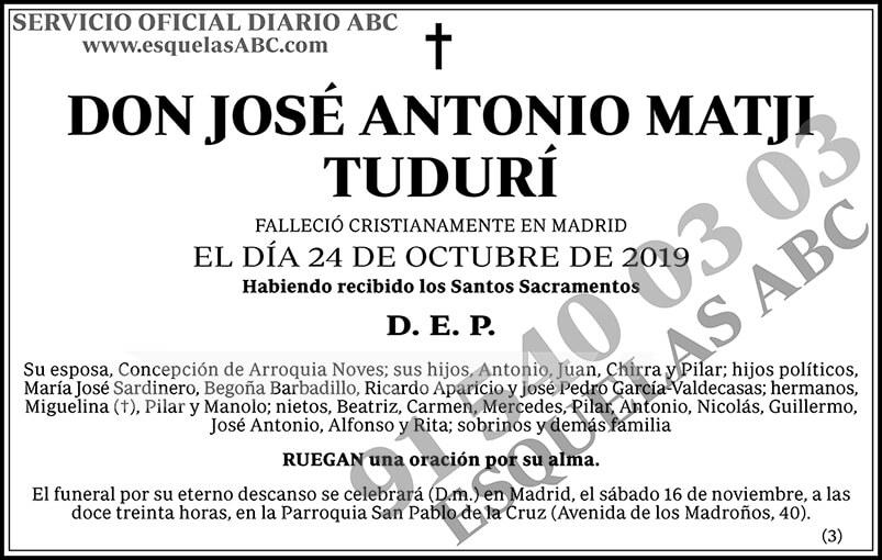 José Antonio Matji Tudurí