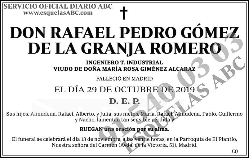 Rafael Pedro Gómez de la Granja Romero