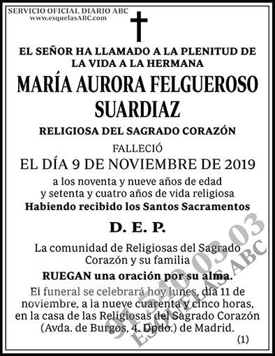 María Aurora Felgueroso Suardiaz