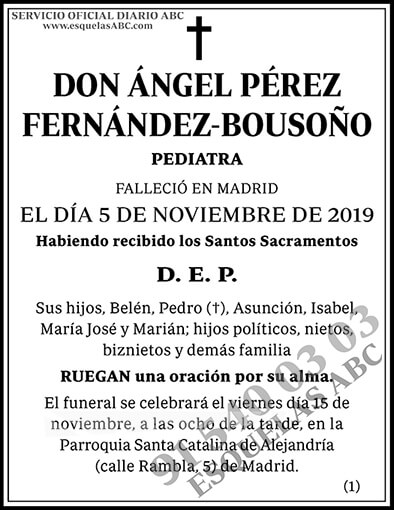 Ángel Pérez Fernández-Bousoño