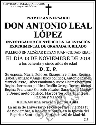 Antonio Leal López