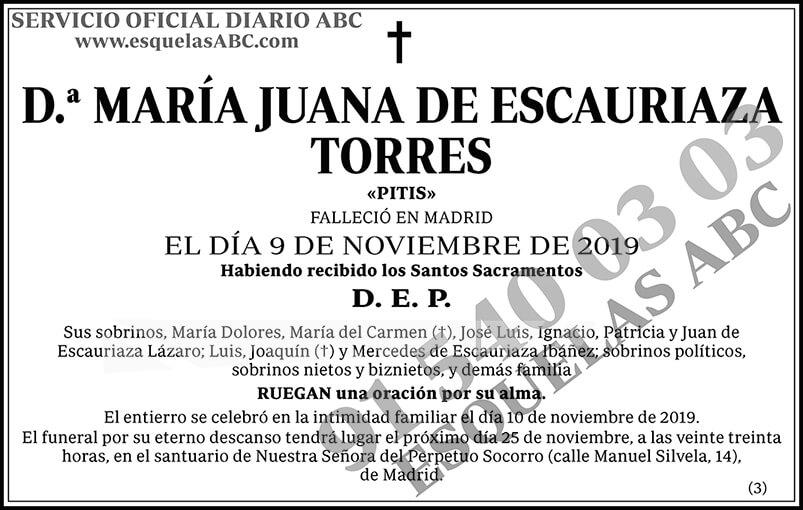 María Juana de Escauriaza Torres