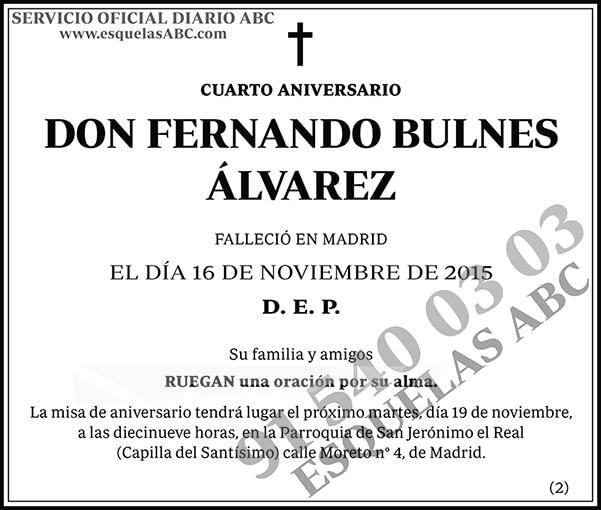 Fernando Bulnes Álvarez