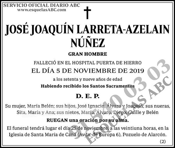 José Joaquín Larreta-Azelain Núñez
