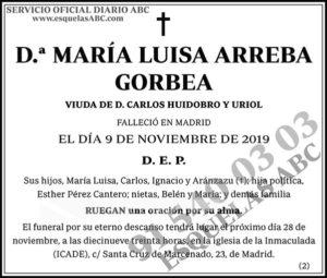 María Luisa Arreba Gorbea