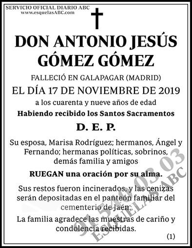 Antonio Jesús Gómez Gómez