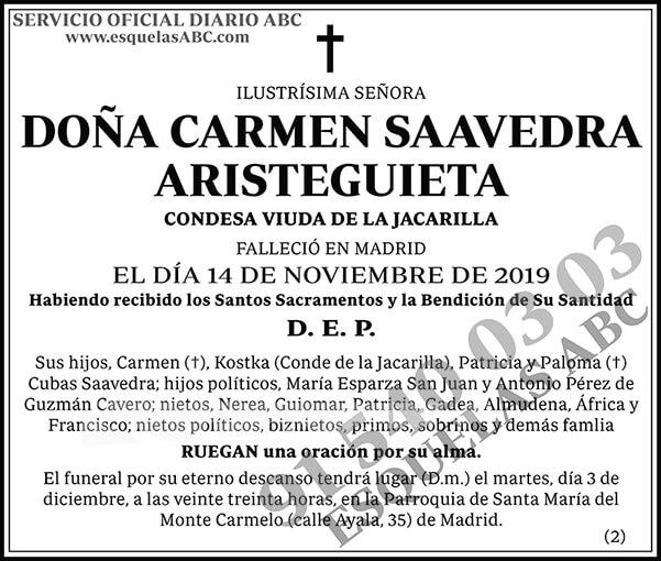 Carmen Saavedra Aristeguieta