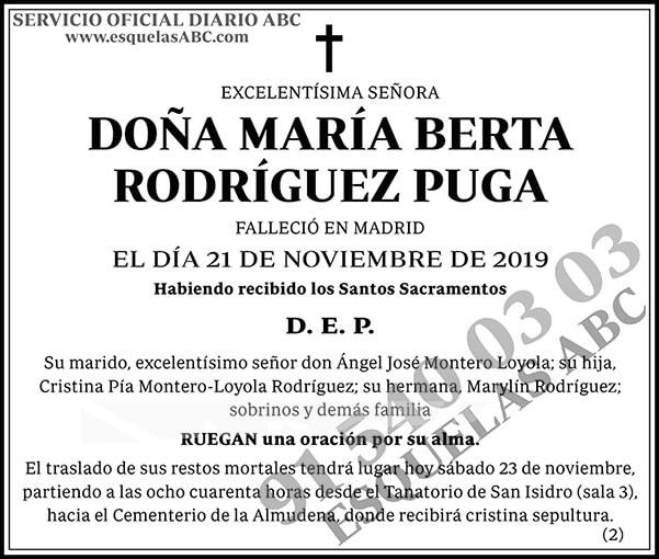 María Berta Rodríguez Puga