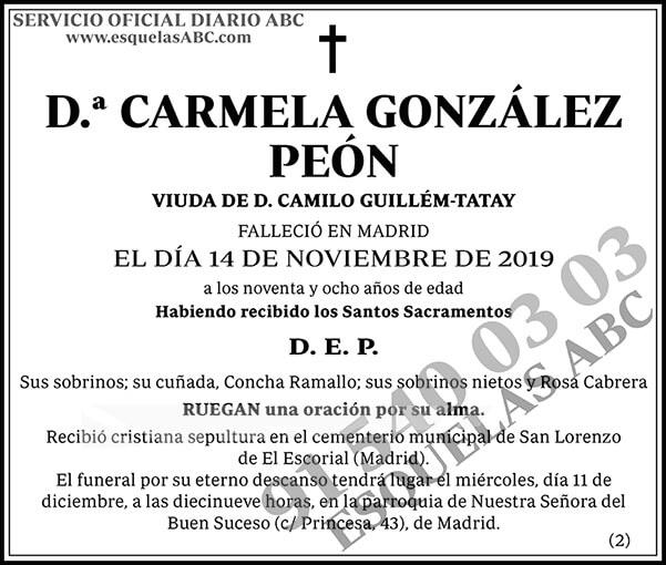 Carmela González Peón