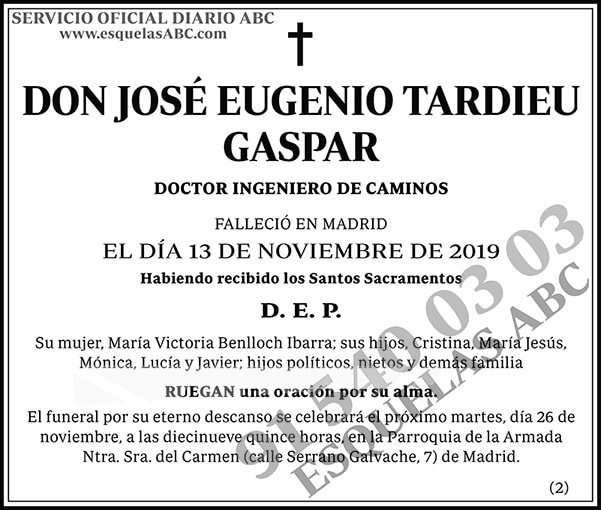 José Eugenio Tardieu Gaspar