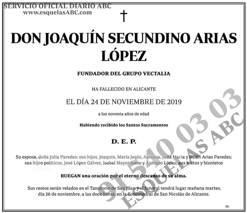 Joaquín Secundino Arias López