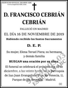 Francisco Cebrián Cebrián