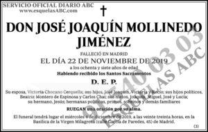 José Joaquín Mollinedo Jiménez
