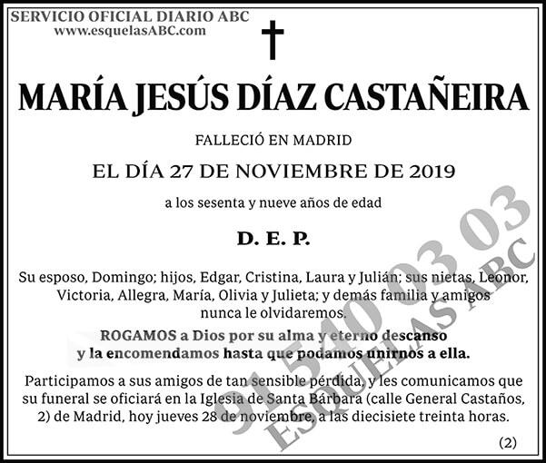 María Jesús Díaz Castañeira