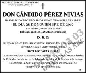 Cándido Pérez Nivias