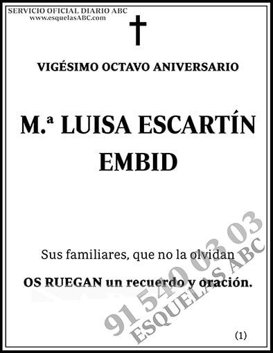 María Luisa Escartín Embid