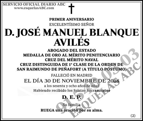 José Manuel Blanque Avilés