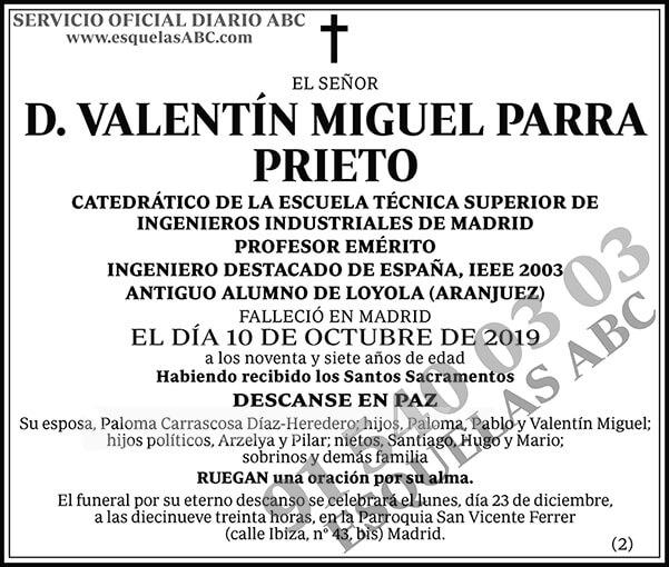 Valentín Miguel Parra Prieto
