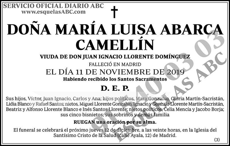 María Luisa Abarca Camellín