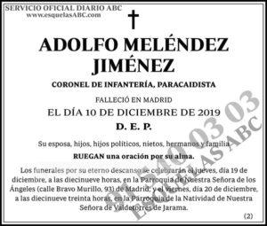 Adolfo Meléndez Jiménez