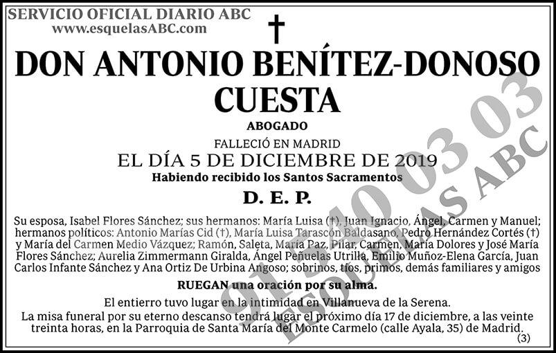 Antonio Benítez-Donoso Cuesta