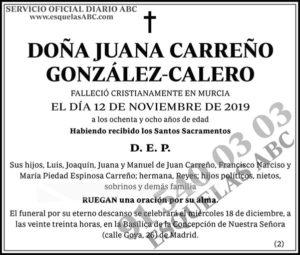 Juana Carreño González-Calero