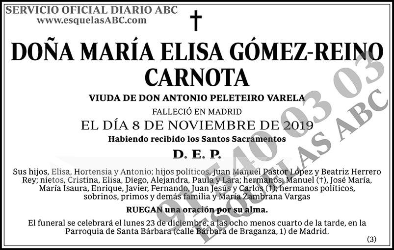 María Elisa Gómez-Reino Carnota