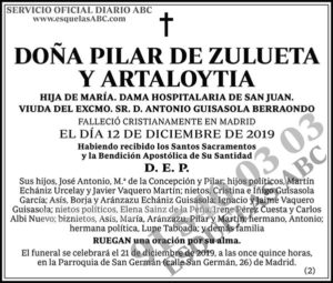 Pilar de Zulueta y Artaloytia