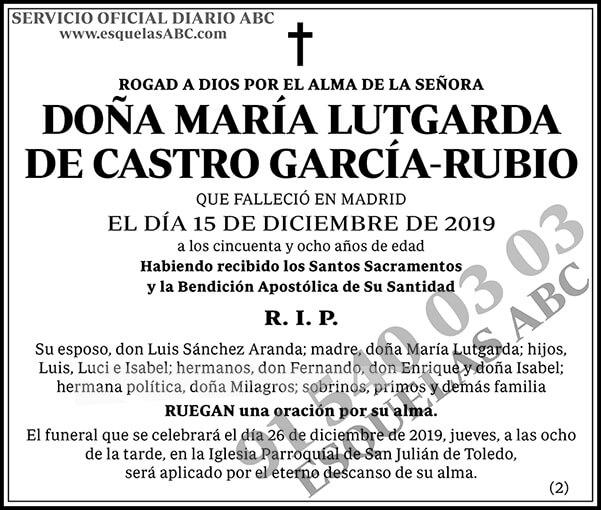 María Lutgarda de Castro García-Rubio