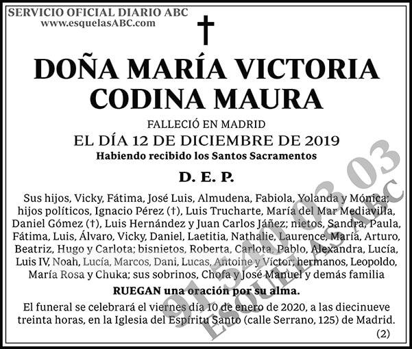 María Victoria Codina Maura