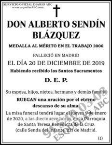 Alberto Sendín Blázquez