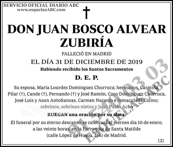 Juan Bosco Alvear Zubiría